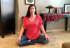 Image of Nicole Leffer in meditation showing that anyone can meditate, you can't do it wrong!