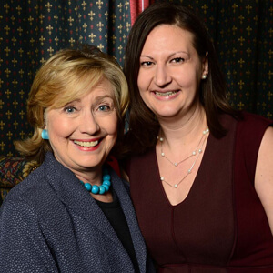 Nicole with Hillary Clinton